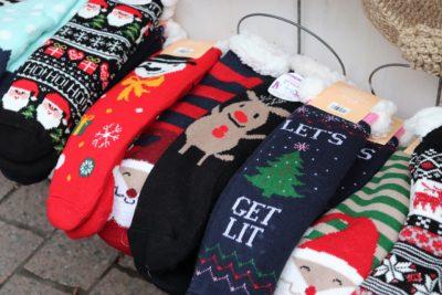 クリスマス柄の靴下